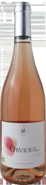 Obvious Domaine Valjulius Rosé VdF Organic et vegan FR-Bio-01